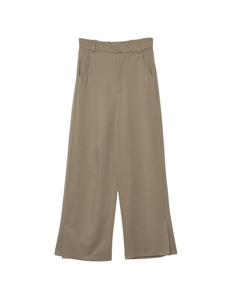 [低身長向け/高身長向けサイズ対応]サイドベンツポンチストレートパンツ