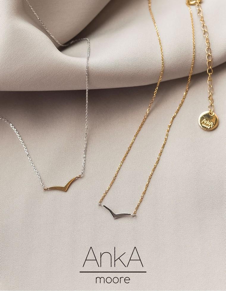 Re:EDIT‐リエディ [AnkA Moore]日本製ツインカラープレートネックレス