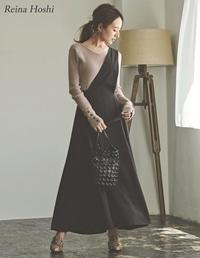 [低身長向けSサイズ対応]ワンショルダーフレアジャンパースカート