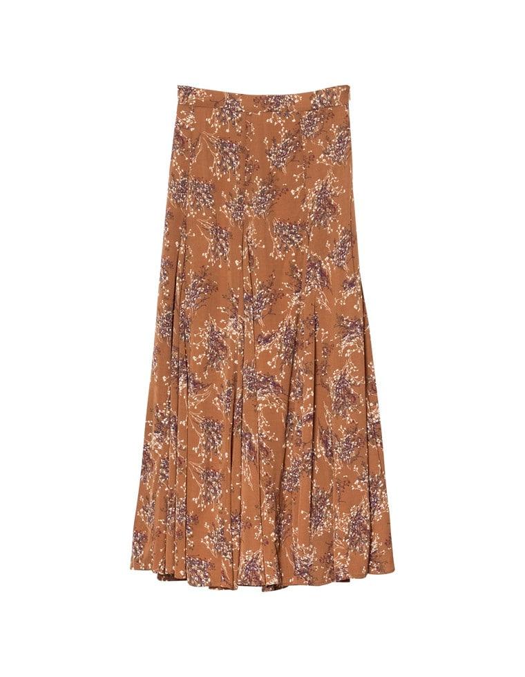 [2020A/W PRE ORDER][低身長向けSサイズ対応]ニュアンス花柄フレアロングスカート