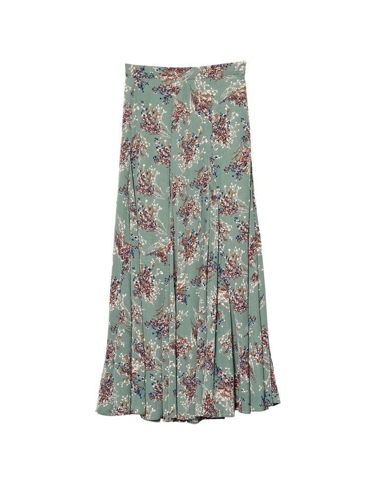 [2020A/W COLLECTION][低身長向けSサイズ対応]ニュアンス花柄フレアロングスカート