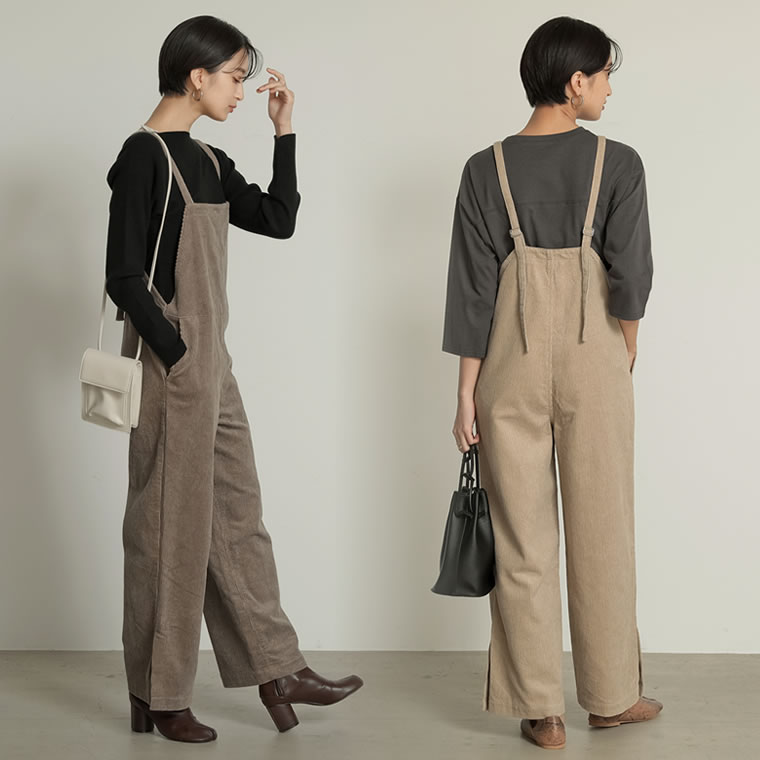 133501_[2020A/W COLECTION][低身長向けSサイズ対応]コーデュロイサロペット