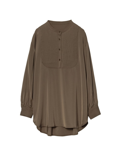 [yun×Re:EDIT(リエディ)コラボ][低身長向けSサイズ対応]ピンタックプザムシャツ