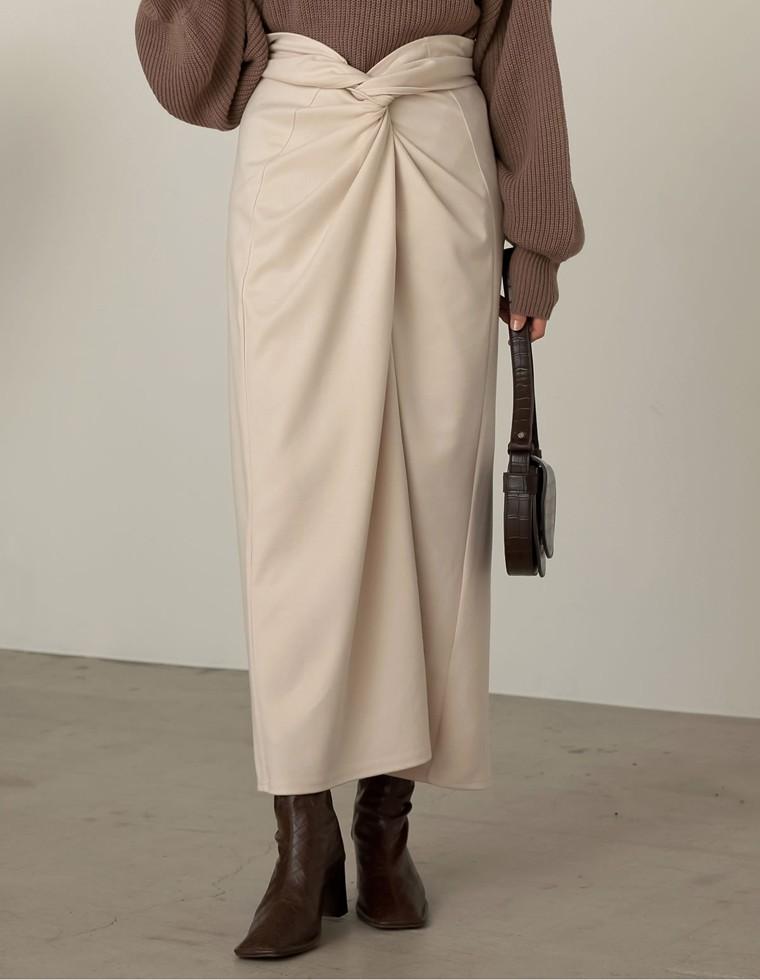 Re:EDIT‐リエディ [低身長向けSサイズ対応][お家で洗える]起毛ジャージーストレッチメニーウェイスカート