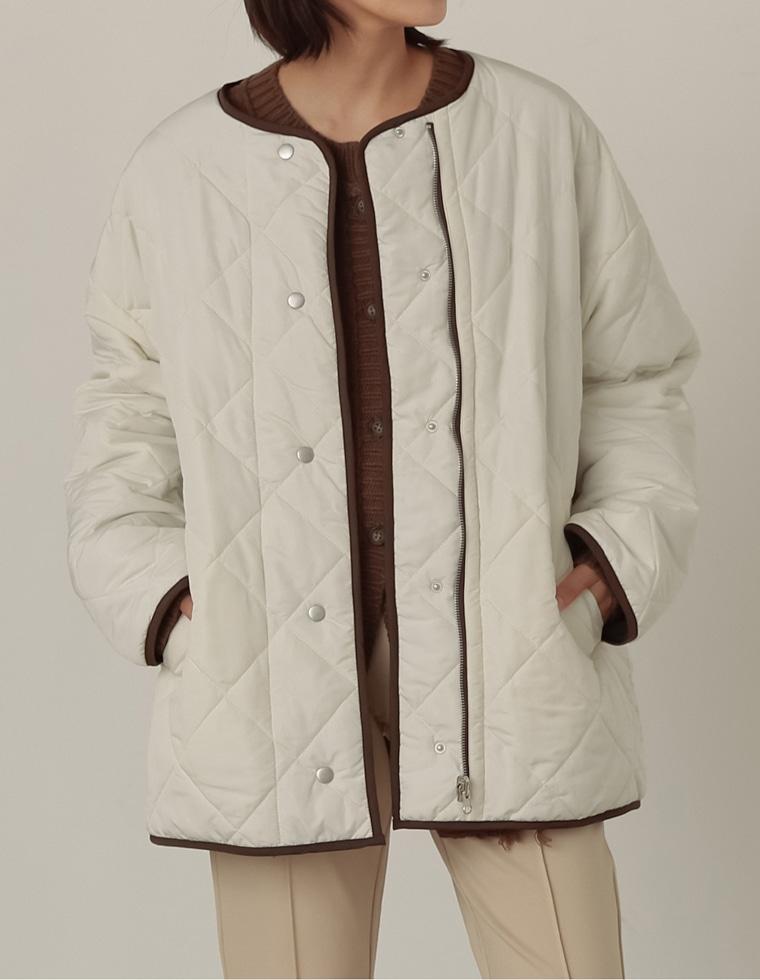 Re:EDIT‐リエディ リバーシブルキルティング軽量中綿ジャケット