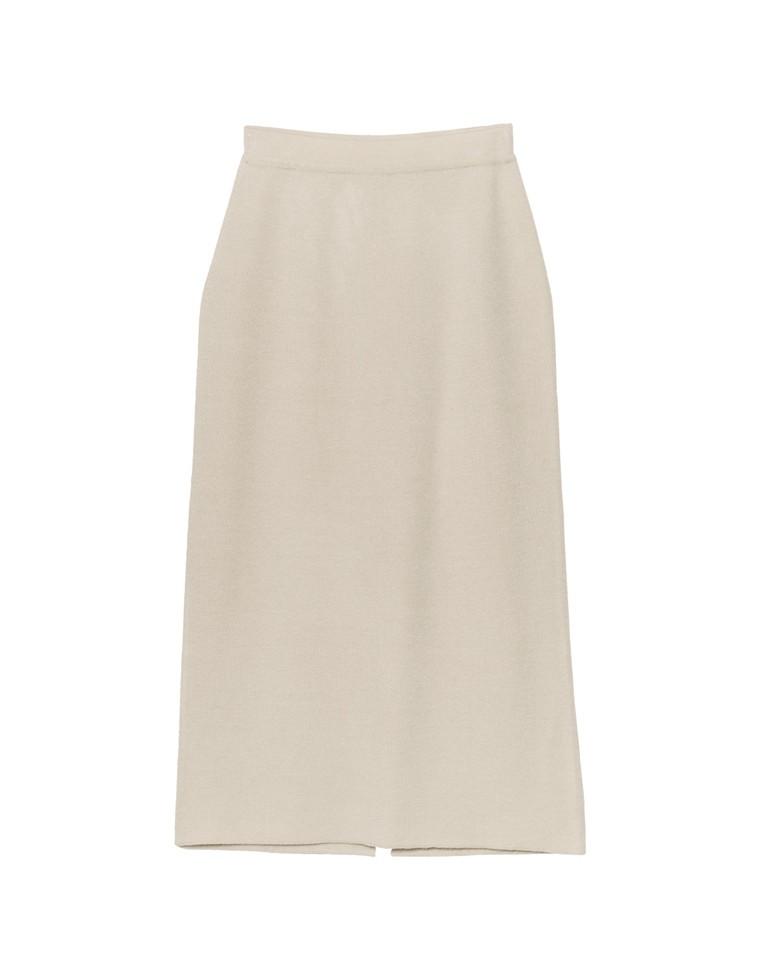 [あったか蓄熱保温][低身長向け/高身長向けサイズ有]ヒートニットアウトリンキングタイトスカート