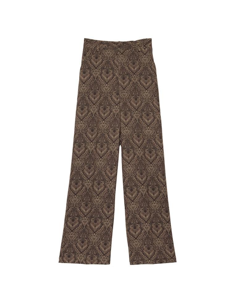 [高橋ユウさん着用][低身長向けSサイズ有]総柄センタープレススラックスパンツ