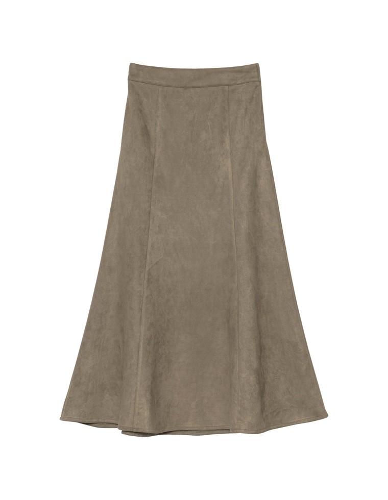ポンチスウェードストレッチナロースカート