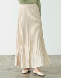 [低身長サイズ有]プリーツライクニットスカート
