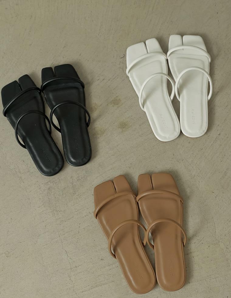 Re:EDIT‐リエディ [2021SUMMER PRE ORDER]足袋風フラットサンダル