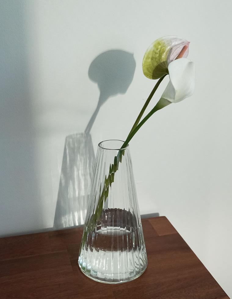 Re:EDIT‐リエディ リューズガラス クーレライン フラワーベース アルプ(L)