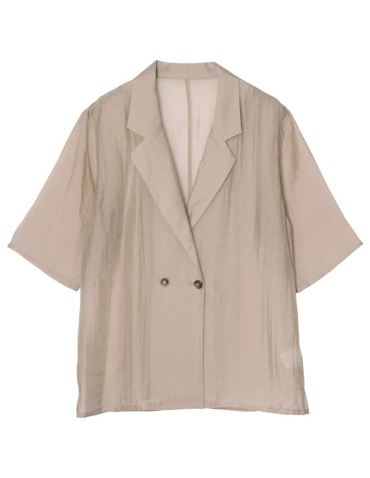 ソフトオーガンジーシアー半袖シャツ