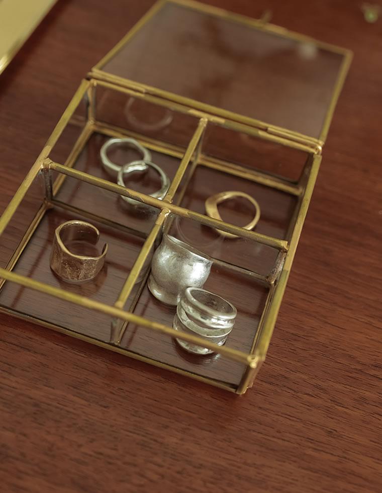 Re:EDIT‐リエディ [Re:EDIT HOME]BRASSフレームガラスコンパートケース4BOX