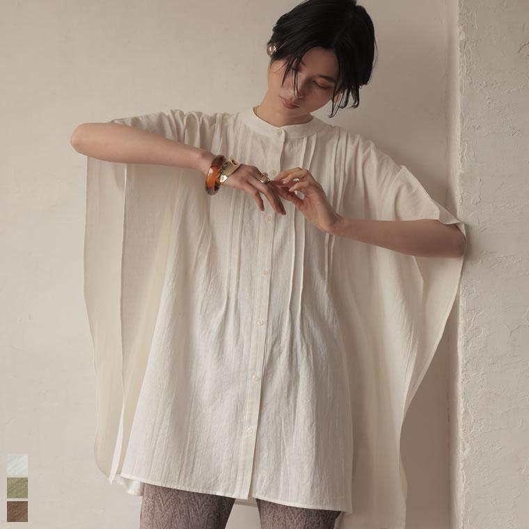 134389_[2021SUMMER PRE ORDER]コットンジャガードピンタックポンチョシャツ