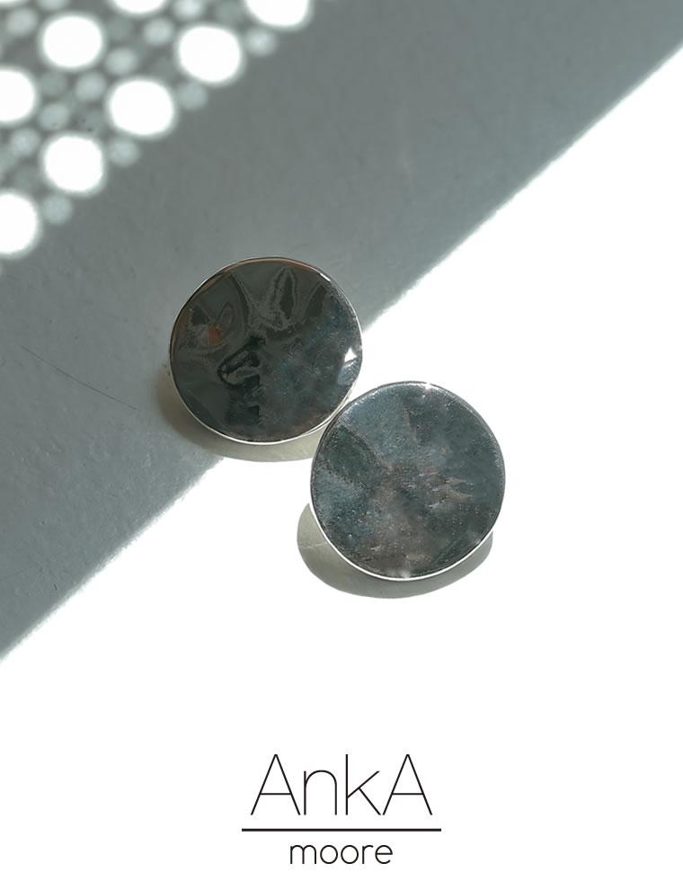 Re:EDIT‐リエディ [AnkA moore(アンカムーア)][低アレルギー対応]フルムーンプレートピアス[返品交換不可]
