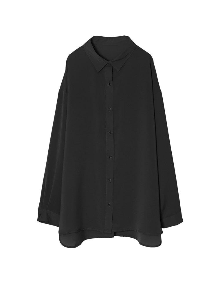 マットサテンオーバーサイズシャツ