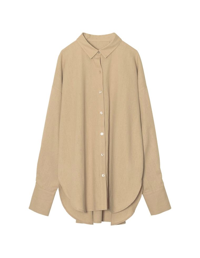 涼感リネンブレンドオーバーサイズシャツ