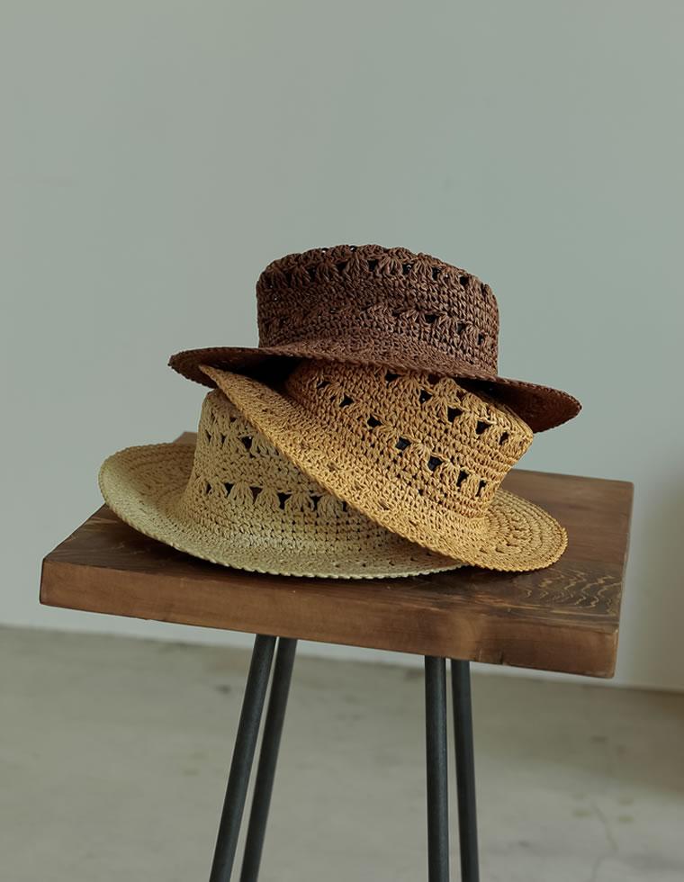 Re:EDIT‐リエディ 透かし編みカンカン帽