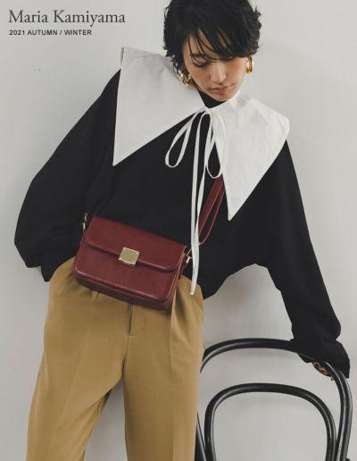 [神山まりあさん着用][2点セット]ビックカラー襟付き裏毛オーバーサイズトレーナー