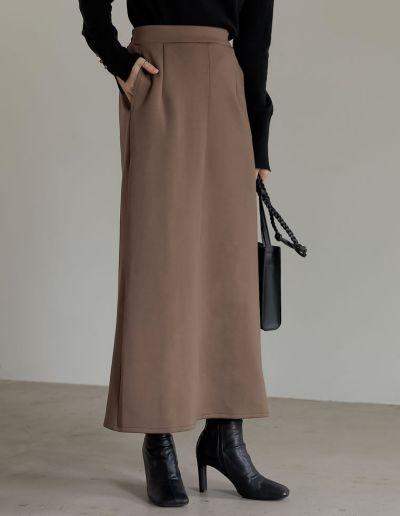 [低身長サイズ有]ダンボールマキシナロースカート