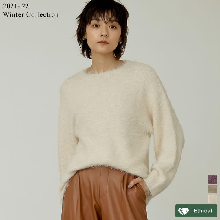 134917_[2021-22 WINTER PRE ORDER]カラーシャギーニットプルオーバー