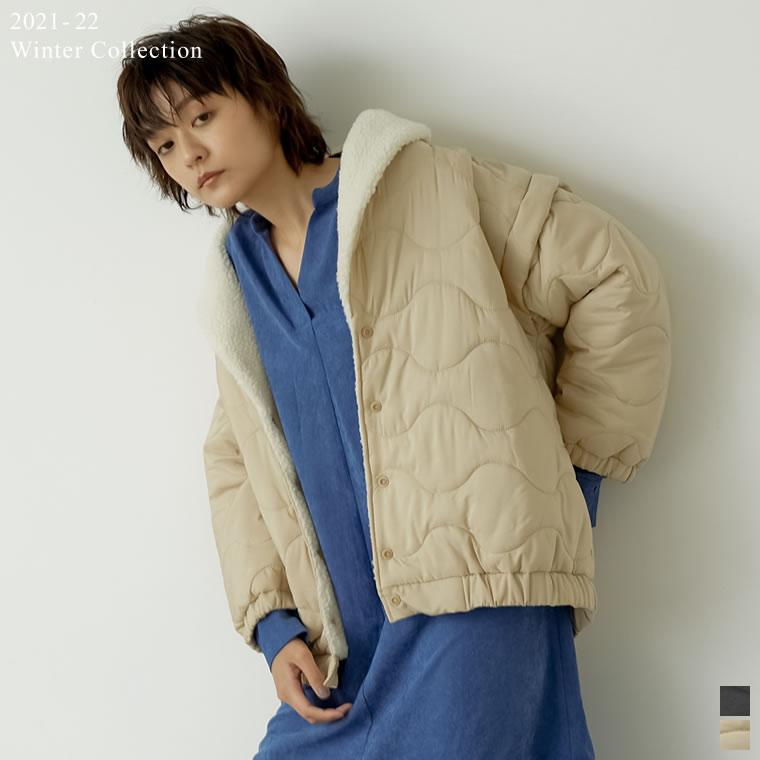 135067_[2021-22 WINTER PRE ORDER]オーバーサイズ裏ボアキルティングジャケット