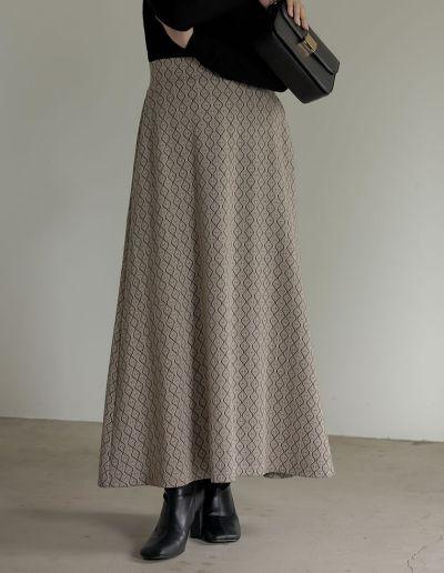 [低身長サイズ有]ジャガードニットソーマーメイドスカート