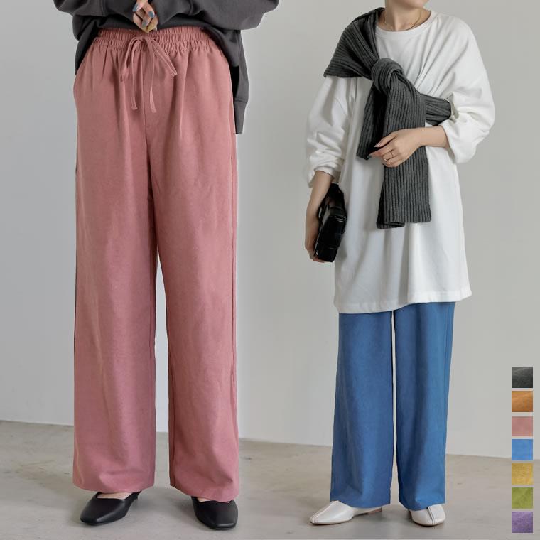 135163_[低身長/高身長サイズ有]ピーチドロストイージーパンツ