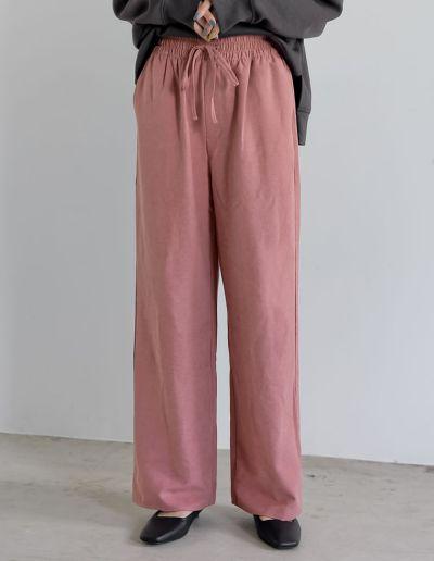 [低身長/高身長サイズ有]ピーチドロストイージーパンツ