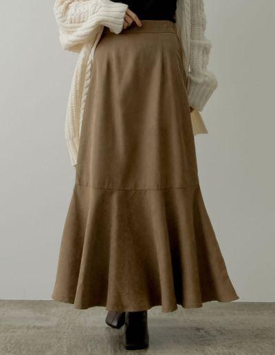 [低身長/高身長サイズ有]ピーチスキンマーメイドスカート