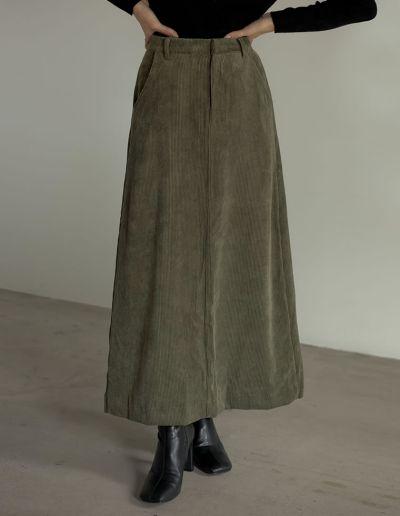 [低身長サイズ有]コーデュロイナロースカート