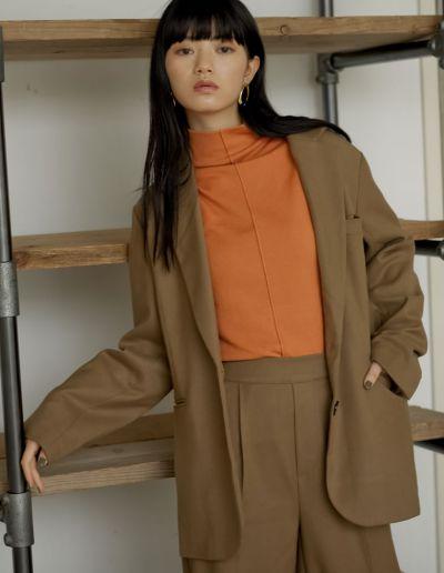 [低身長向けサイズ有]起毛ツイルカラーテーラードジャケット