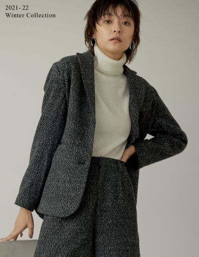 [2021-22 WINTER PRE ORDER][低身長サイズ有]ツイードライクテーラードジャケット